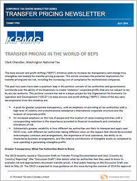 Transfer Pricing Newsletter