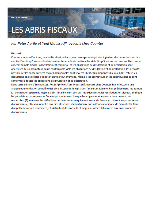 Exemple : Centre de litige fiscal