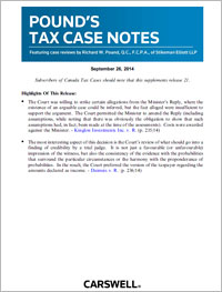 Pound's Tax Case Notes