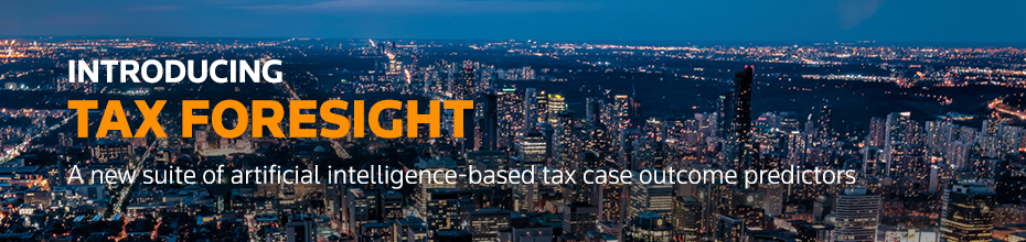 Introducing Tax Foresight, using artificial intelligence to predict tax case outcome predictions